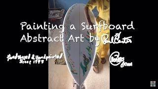 Learn How to abstract painting a surfboard Paul Carter 3/3