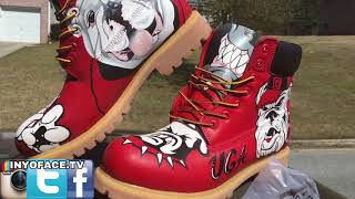 Georgia Bulldogs UGA Custom Red Timberland Boots