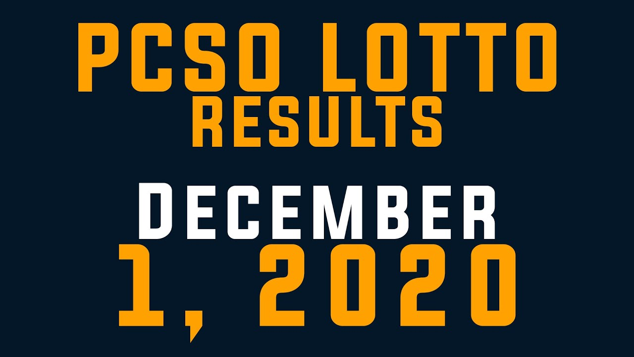 Pcso Lotto Results 2d Results December 3 2020