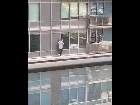 Don Action Jackson - Man Goes out On Thin Ledge To Retrieve His Cat (NSFW)