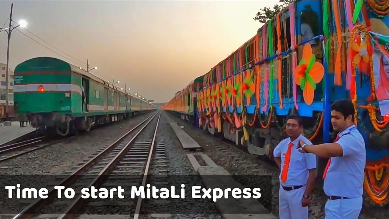 its Time to Start Mitali Express || LHB Chitra Express also passing Cantonment Station