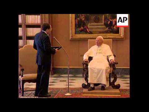 ITALY: VATICAN: POPE JOHN PAUL MEETS LEADER OF JEWISH ORGANIZATION