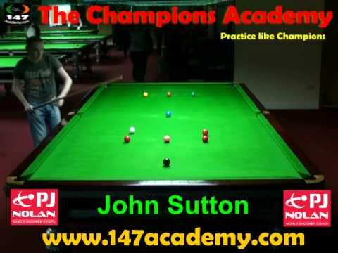 PJ NOLAN SNOOKER ACADEMY PLAYER -- JOHN SUTTON