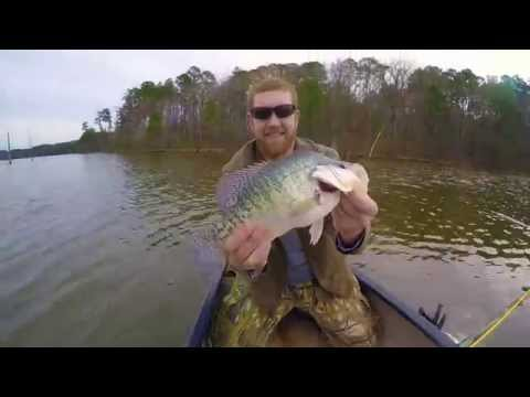 Jordan Lake | Crappie & Bass Fishing | GoPro