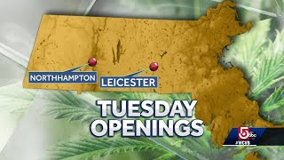 Mass. first two pot shops to open Tuesday morning