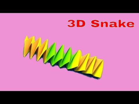 3d Origami Paper Snake | Easy Origami Snake Tutorial : DIY School