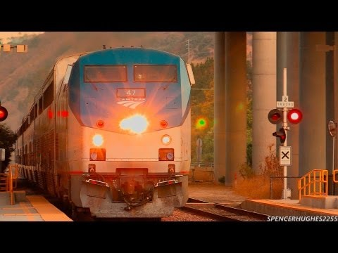 HIGH SPEED Amtrak Trains - Sorrento Valley + Bonus shot! (September 1st, 2013)