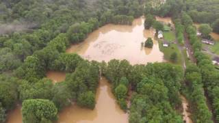 Drone Footage Shows Extensive Flooding in West Virginia