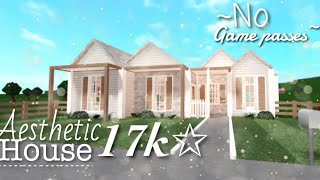 READ PINNED COMMENT Aesthetic 17k No Gamepasses House - BLOXBURG SPEED BUILD