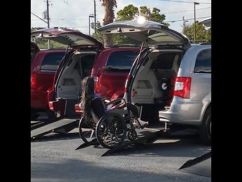 handicap ramps for minivans. rear entry handicap mini-van. wheel chair accessible van, ramps. ramps for minivans