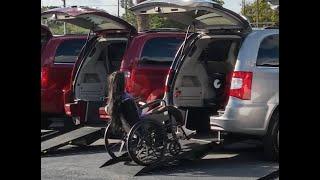Rear Entry Handicap Mini-Van. Wheel Chair Accessible Van, Wheel Chair Ramps.