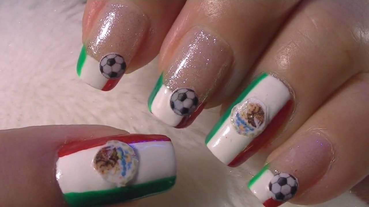 World Cup Mexico Nail Art Tutorial / FIFA Mundial Mexico Arte para ...