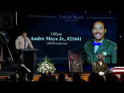 Coe Lewis - CHP Officer Andre Moye Jr.'s Public Memorial Service