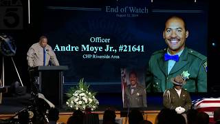 CHP Officer Andre Moye's Memorial Service