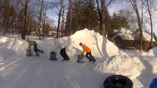 500 ft of Backyard Luge: Feb 17 2014