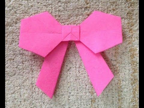 簡単 折り紙:リボンの作り方 折り紙-youtube.com