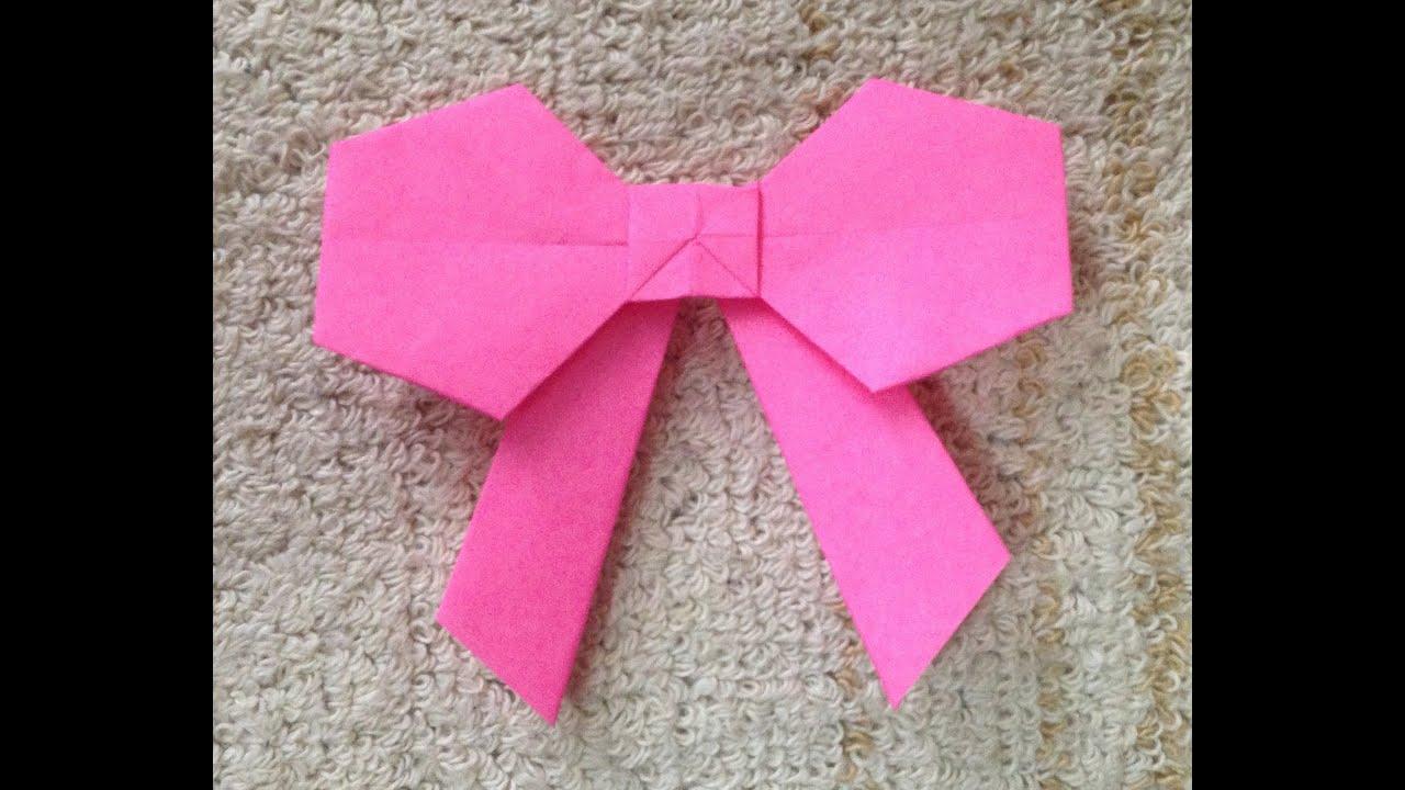 折り紙 リボン 折り方 作り方 ...