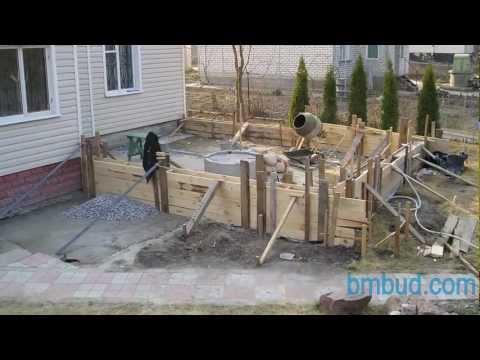 Этапы строительства пристройки к дому, БмБуд