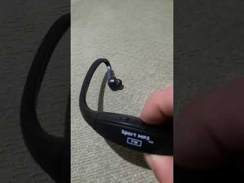 Como funciona fone de ouvido sport mp3 fm