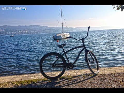 [HD] Cruising the bike path at Lake Zurich 09.10.15