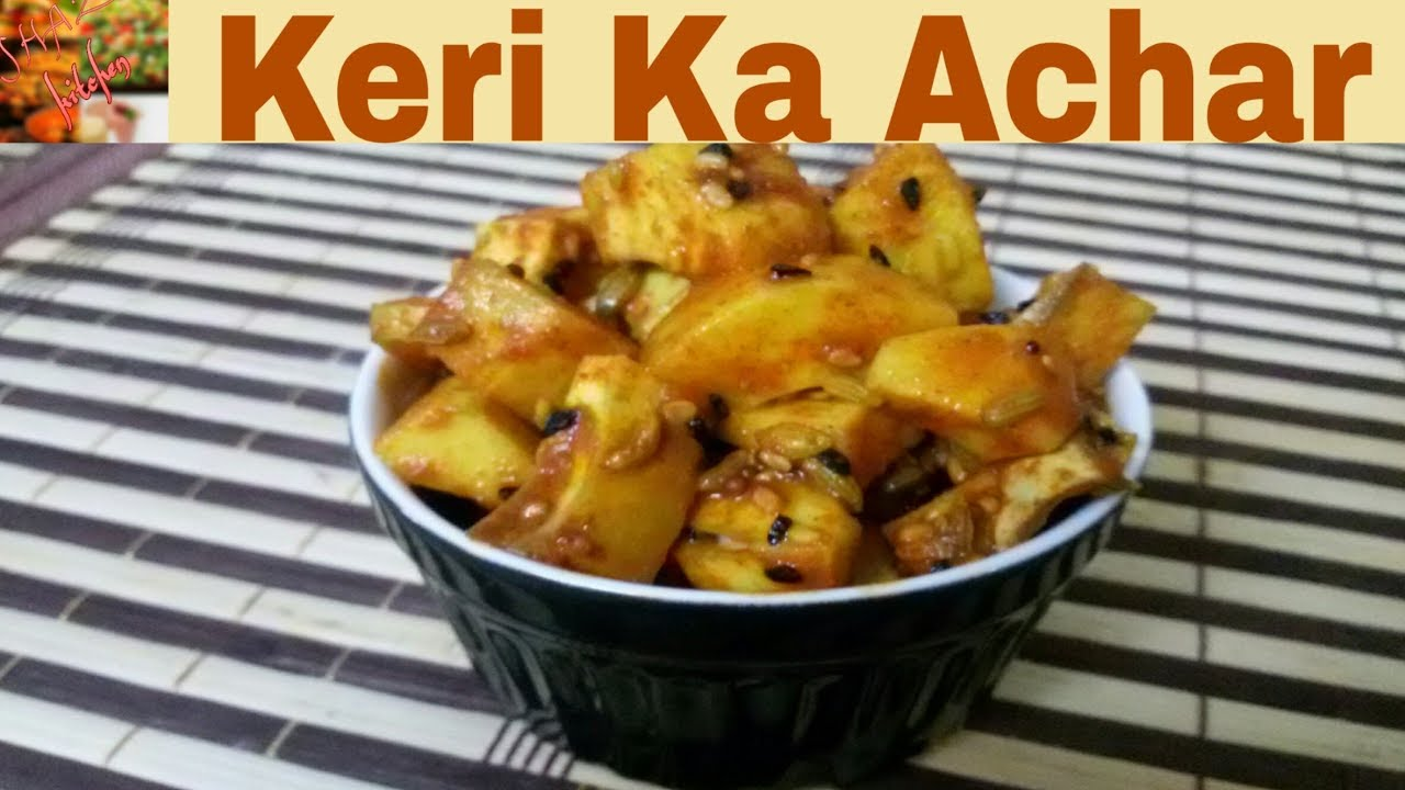 Hindi)how To Make  Instant Mango Pickle At Home