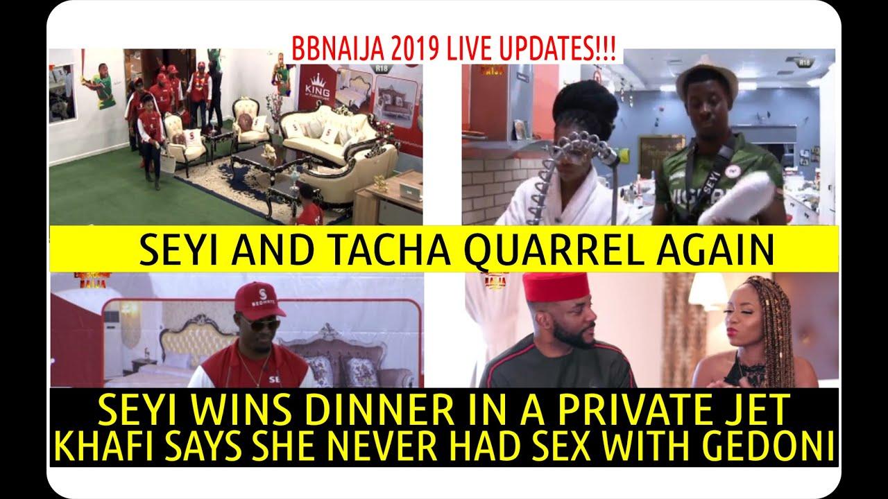 BBNaija 2019 LIVE UPDATE | SEYI WINS DINNER IN A PRIVATE JET | SEYI AND TACHA QUARRELS AGAIN | KHAFI