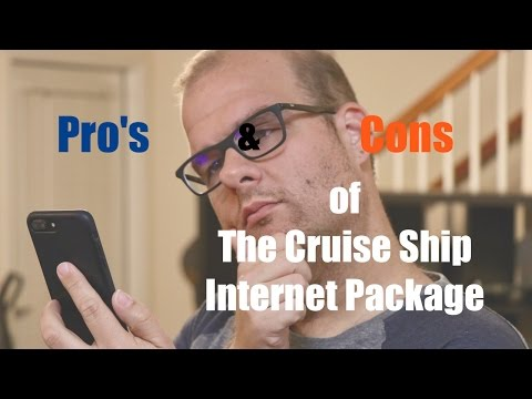 Pros and Cons of Buying the Internet Package on a Cruise