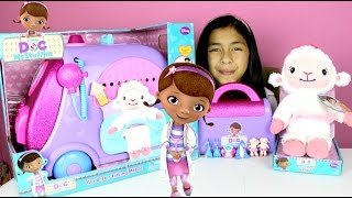 Doc McStuffins Talking Mobile Doctor Kit and Talking Lambie Toys Review |B2cutecupcakes thumbnail
