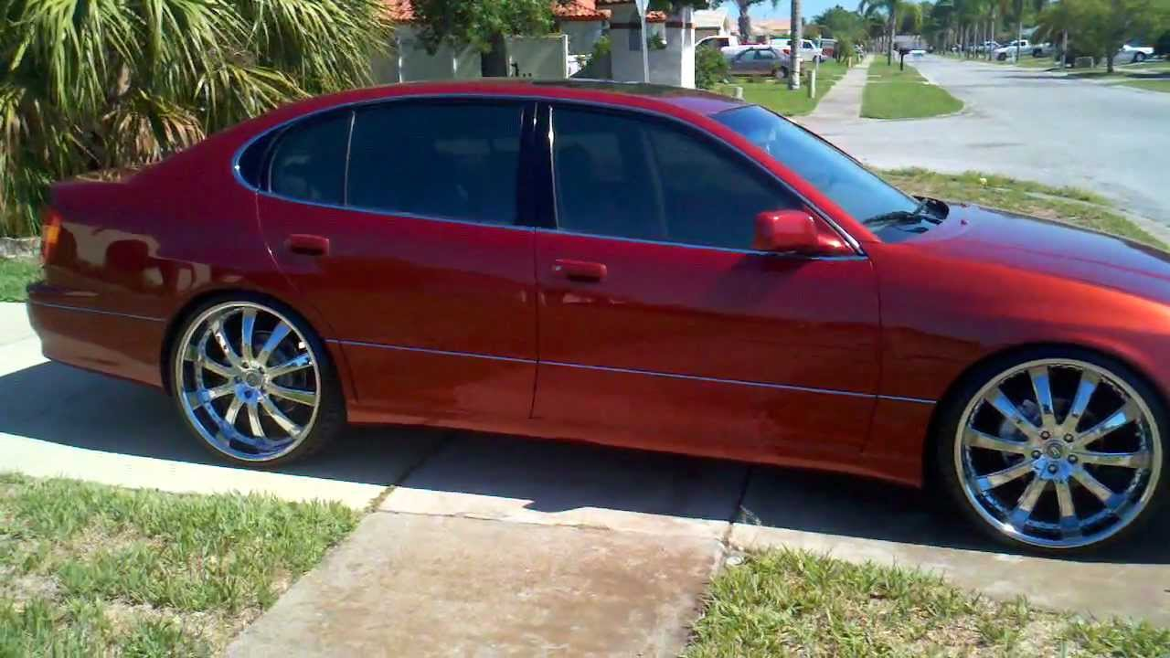 Lexus Gs Gs400 Lowered On 22s 22 Inch Youtube