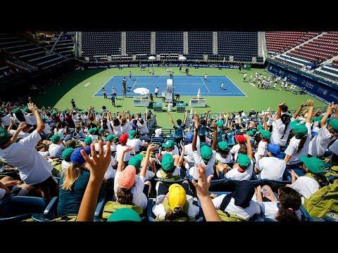 ATP Stars Join In On J.P. Morgan Kids's Day In Dubai