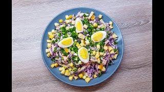 Салат из Красной капусты. Вкусный Рецепт!