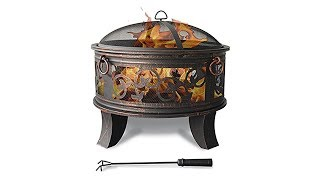 Classic style sturdy metal fire bowl