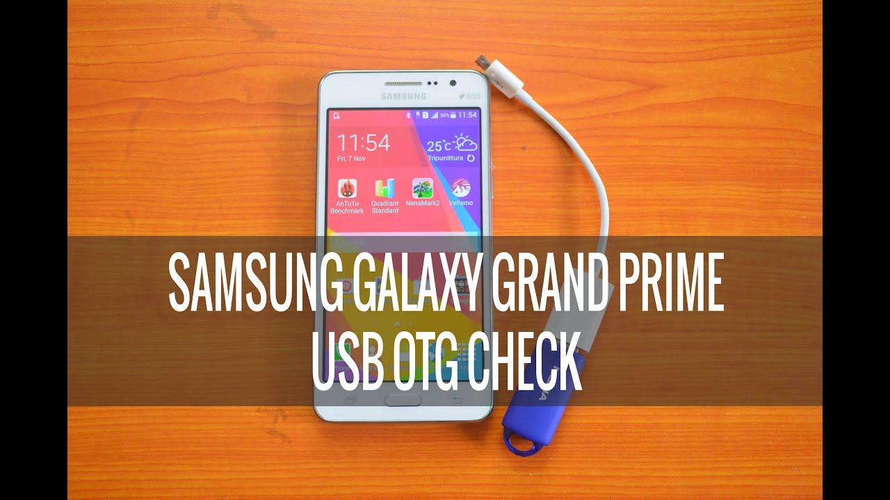 Usb Otg Check On Samsung Galaxy Grand Prime