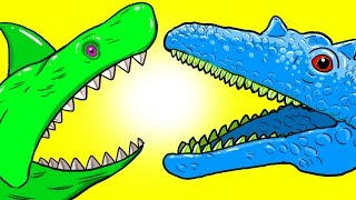 """My Cute Shark Attack Cartoon #51 (Shark-Copter vs. Dino-Copter!!! BEST OF!!) kids cartoons!"