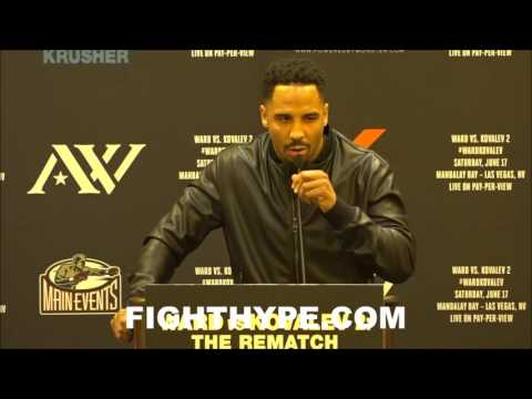 ANDRE WARD GIVES EPIC SPEECH ON KOVALEV AND OTHER FIGHTERS TALKING TRASH AND NOT BACKING IT UP