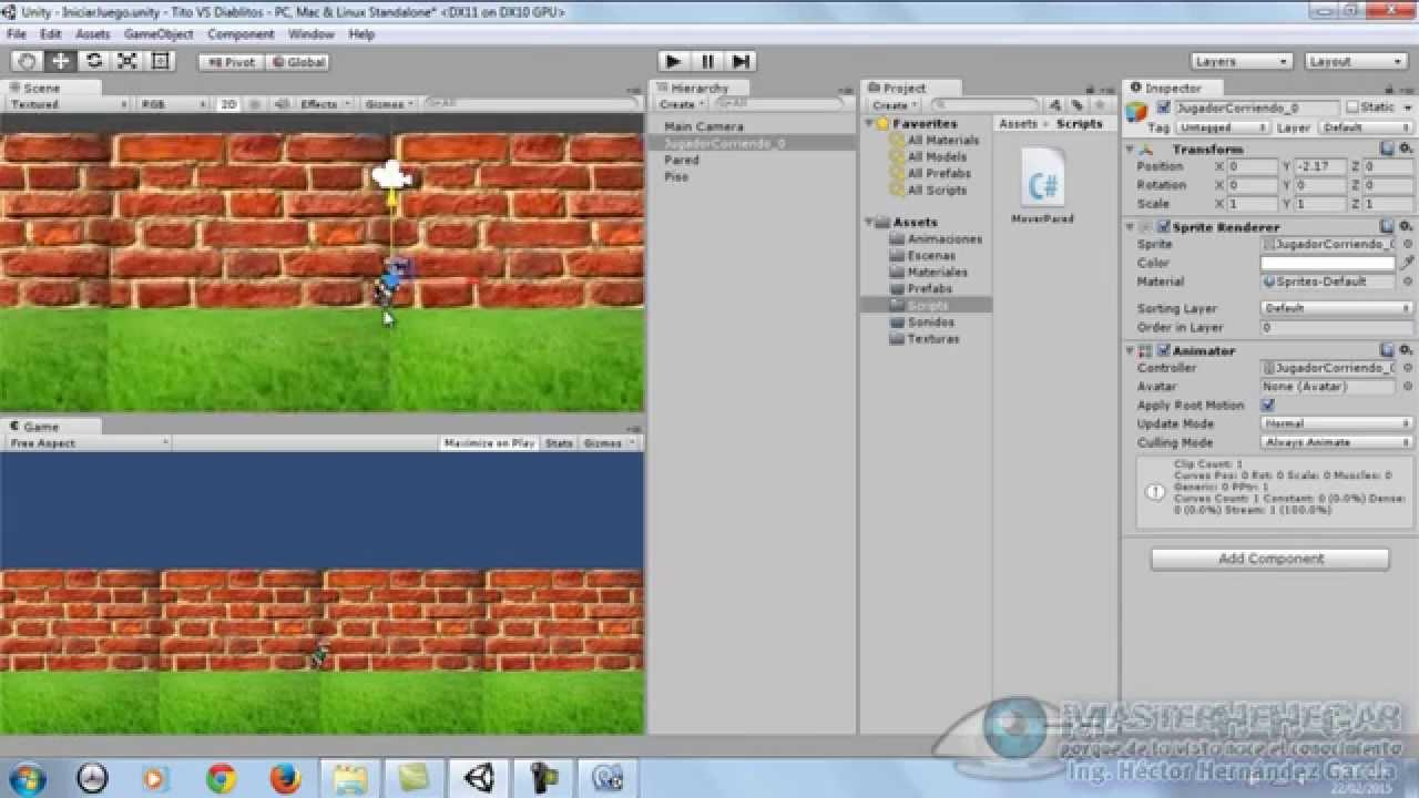 39 Desarrollando Un Juego 2d Creando El Escenario Unity Youtube