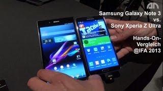 Samsung Galaxy Note 3 vs. Sony Xperia Z Ultra - Smartphone-Vergleich - IFA 2013 - androidnext.de