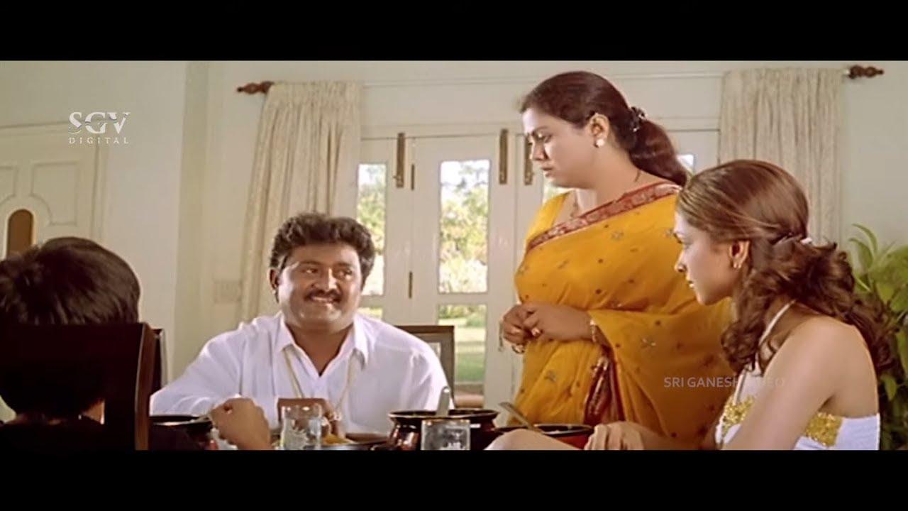 Komal Comes to Deepika Padukone's Home | Comedy Scene | Aishwarya Kannada Movie |
