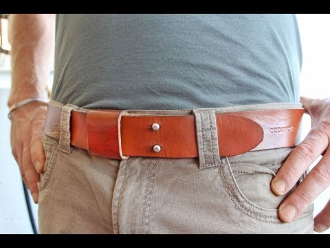 c5145e965 The Everyday Belt - Handmade Leather Belt - YouTube