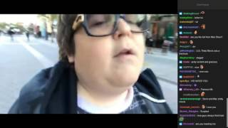 Andy Milonakis Sings Radiohead's Creep, Meets Fans