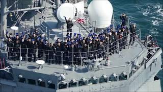 海上自衛隊in来島海峡2019春 平成最後の練習艦隊2 護衛艦いなづま