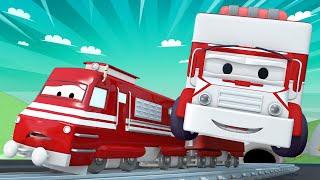 Zug für Kinder -  Ruf jemand einen Krankenwagen!  - Troy der Zug in Car City