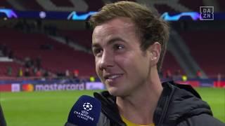DAZN: Mario Götze im Gespräch mit DAZN nach Atletico vs Dortmund