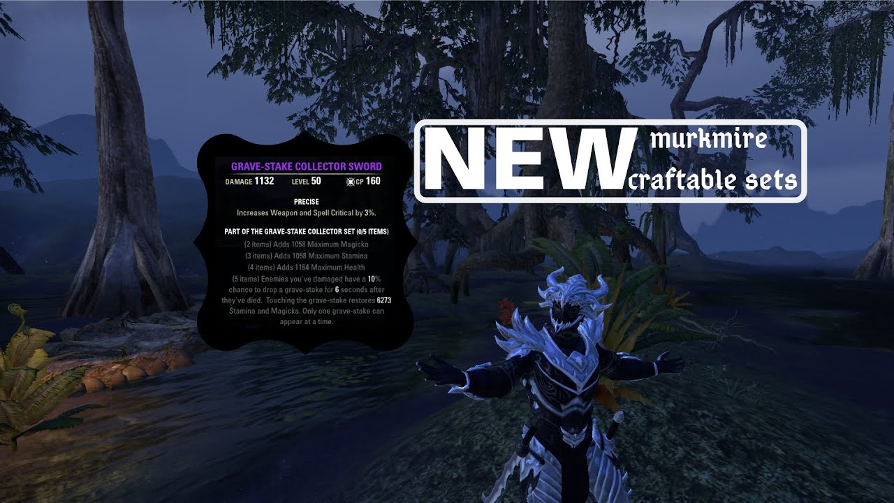 ESO all new murkmire crafted sets + playtest