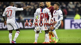 Lyon-As Roma 4-2 2017 (Commentaire RMC) FR