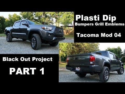 Tacoma Mod 04 | Black Out Part 1 | How to Plasti Dip | Emblem Removal