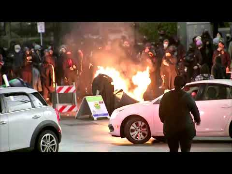 Protests in Tacoma after officer drove into crowd
