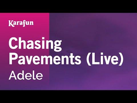 Karaoke Chasing Pavements (Live) - Adele *