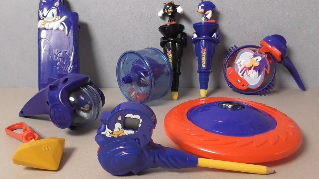 Sonic X Mcdonald S Toys Youtube