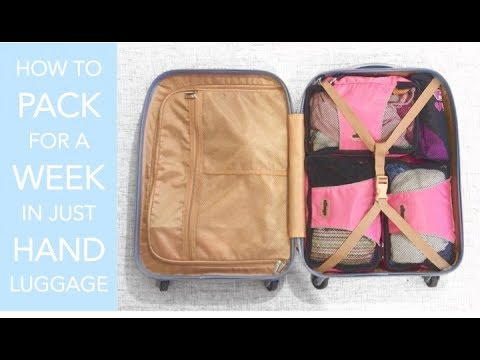 how to pack for a week